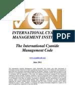 Codigo Internacional Del Cianuro