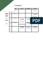 Schedule of Classes (Juniors)