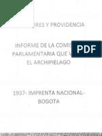 San Andrés y Providencia Informe de la Comisión Parlamentaria que visitó el Archipiélago en 1937