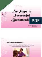 Ten Steps to Breast Feeding and Fetal Circulation