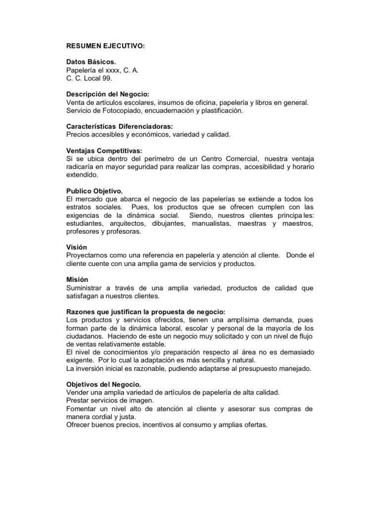 Bonito Informe La Plantilla De Resumen Ejecutivo Modelo - Ejemplo De ...
