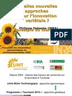 Quelles nouvelles approches pour l'innovation variétale ? L'exemple du tournesol