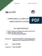 Comentarios a la norma técnica de edificación E.070 (Perú)