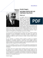 RodolFo Puiggros Historia Partidos Politicos