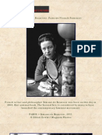 Simone de Beauvoir Famous French Feminist (20060109)