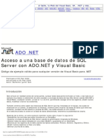 Acceso a Una Base de Datos de SQL Server Con ADO.net y Visual Basic
