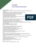 Subiecte Rezolvate - Topografie, CCIA, Anul 1, Semestrul 1, C.Brisan