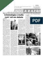 Criminologia e Rock - A Razão 01 junho 11