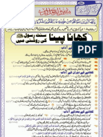 Khaana Peena Sunnat-E-Rasool [s.a.w] Ki Rooshni Main