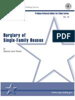 Burglary of Single-Family Houses