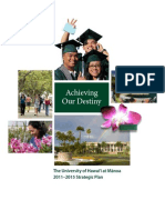 Achieving Our Destiny - University of Hawaii at Manoa Strategic Plan 2011-2015 (Final Draft)