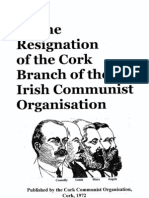 Cork Communist Organization - On the Resignation of the Cork Branch of the Irish Communist Organization