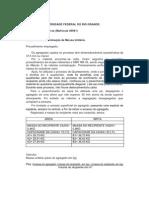 Relatório 1 quarteamento e pesagem