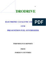 Hydro Drive Performance Reports From Foreign Countries