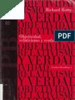 Rorty Richard ObjetividadRelativismo y Verdad