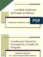 Presentación de Estadística tema 1,2,3,4,5,6,7 y 8 2010B