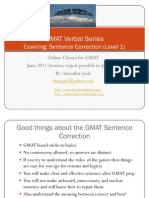 Sentence Correction GMAT Verbal Free Class Lecture Prep