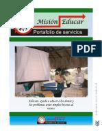 PORTAFOLIO DE SERVICIOS DE MISIÓN EDUCAR