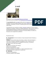 Presentación oral y escrita