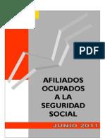 Afiliados a la Seguridad Social Española en JUN 2011