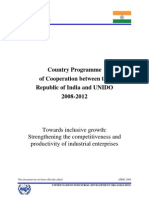 UNIDO Country Plan- India_ip08-12_signed