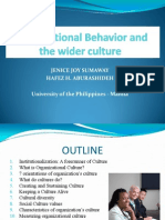 Organizational Behavior and the Wider Culture
