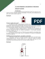 Teste de Lucas - Identificação de Álcool primário, Álcool Secundário e Álcool Terciário