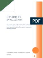 Informe de Evaluacion del curso Monitor Educación Ambiental