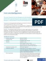 ILM Level 3 Award - First Line Management (July 11)