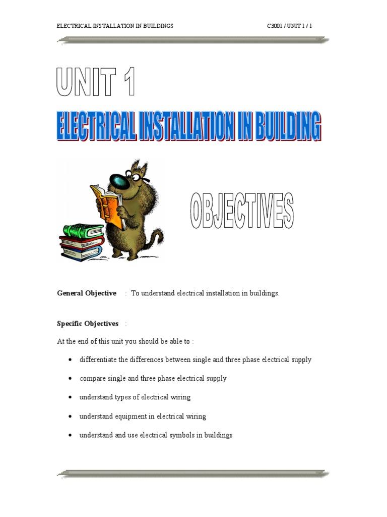 Electrical Installation in Building (politeknik) | Electrical Wiring ...