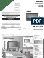 Panasonic Plasma F001807 Manual