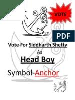 Sid Poster Headboy