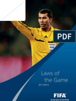 Laws of the Game 2011-2012