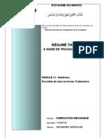M12_Matériaux, Procédés de mise en forme, traitements TFM-TSMFM