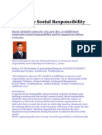 Corporate Social Responsibility of Itc Hul
