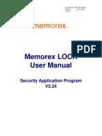 Memo Rex Lock User Manual v224-C