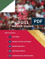 2011 Saint Louis Cardinals Media Guide