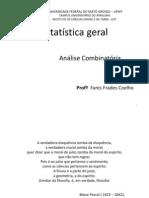 Estatística geral - ANÁLISE COMBINATÓRIA