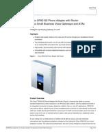 Cisco SPA3102 Datasheet