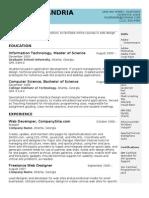 Sample IT Resume