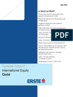 Spezialreport GOLD - In GOLD We TRUST - Juli 2011