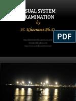 Visual system examination