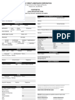 GCAC Application Form Salary Loan