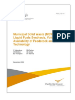 DOE MSW to Liquid Fuels Vol 1