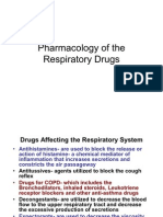 Pharmacology - Respiratory Drugs