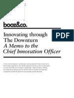 Innovating Through the Downturn Booz 010509