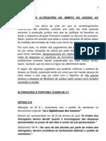 ALTERAÇÕES AO ACESSO AO DIREITO 4-07-2011
