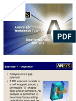 ANSYS 10.0 Workbench Tutorial - Exercise 7, Electromagnetics