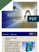 ANSYS 10.0 Workbench Tutorial - Exercise 7, Electromagnetics