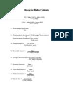 Formulas & Comments